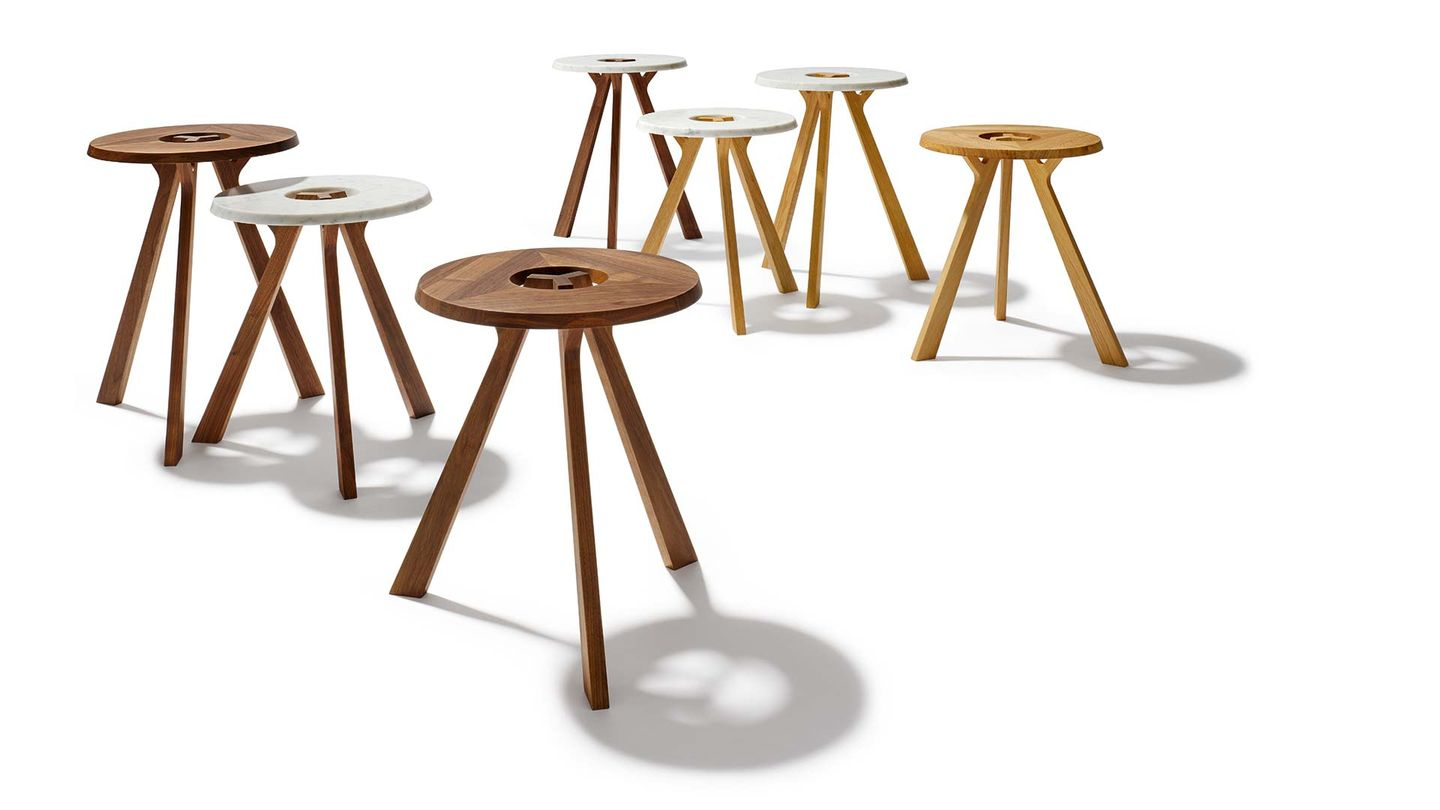 TEAM 7 treeO side tables by designer Stefan Radinger