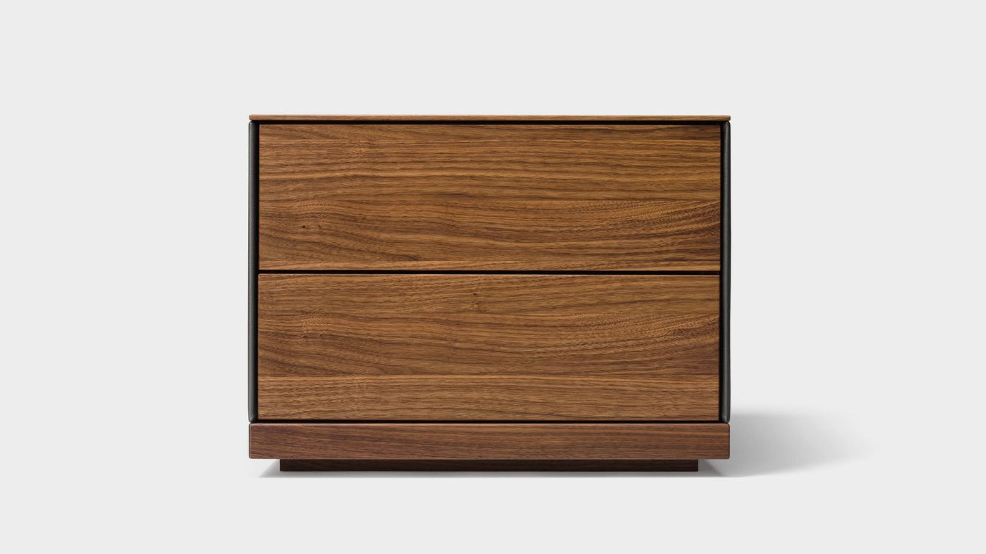 riletto bedside cabinet in walnut