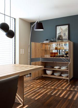filigno highboard open in oak white oil