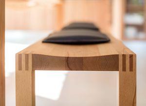 Panca loft in legno naturale di rovere