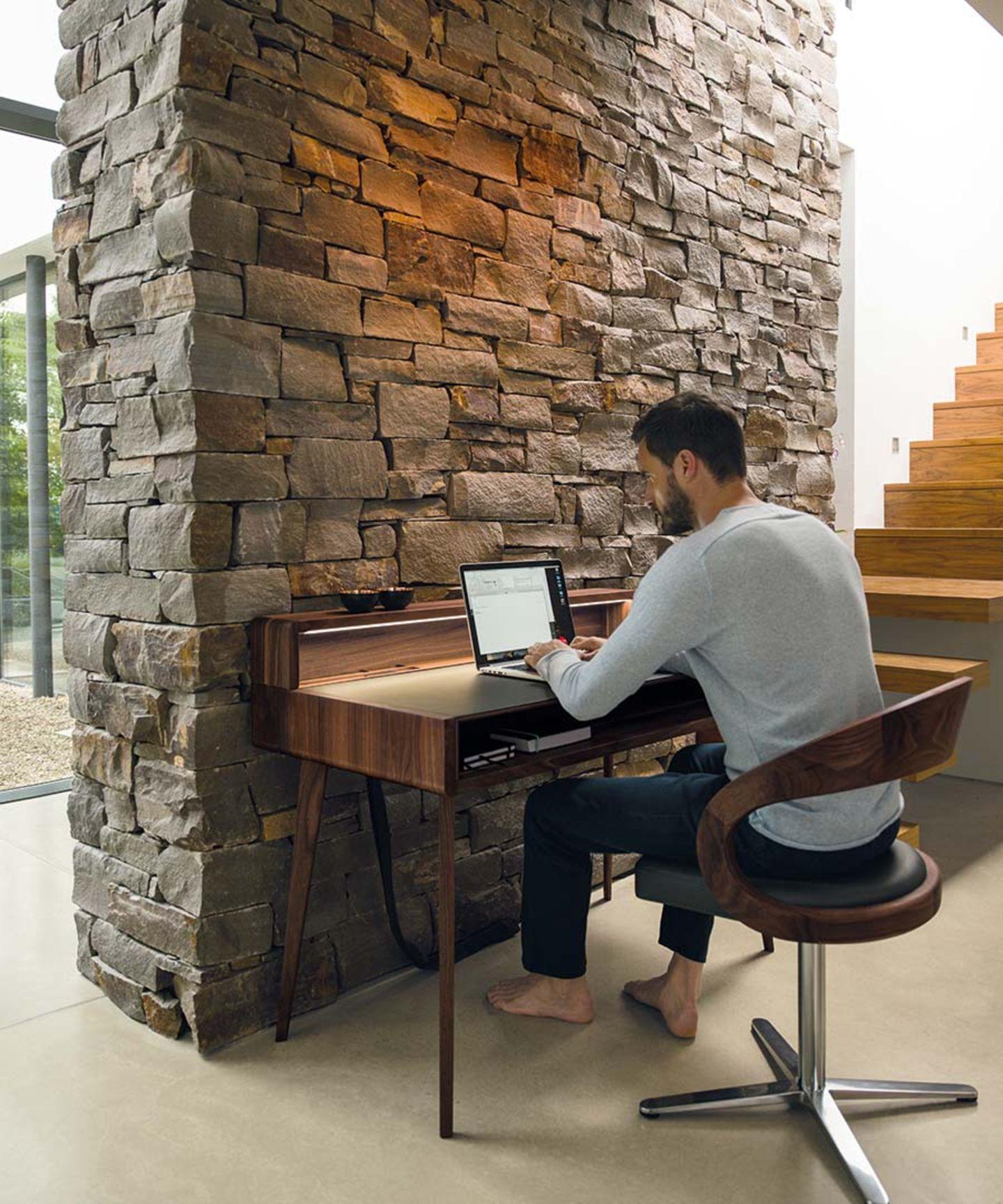Schreibtisch sol in Nussbaum