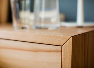 lunetto solid wood dresser corner joint