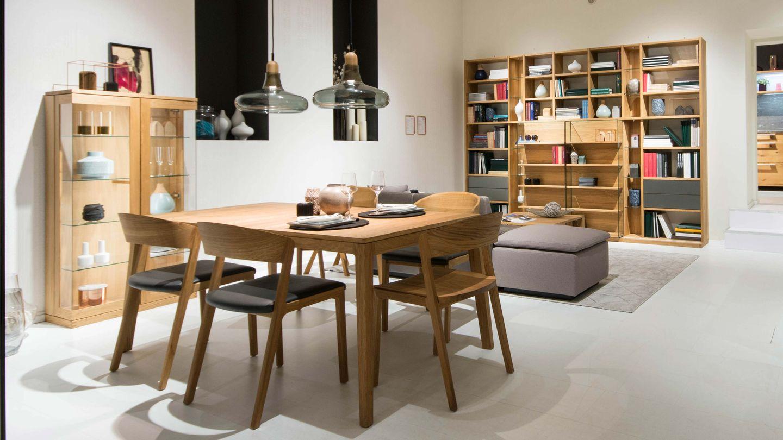 mylon Tisch in Eiche im TEAM 7 Store in Wien