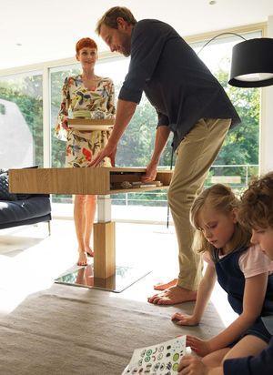 lift height-adjustable coffee table