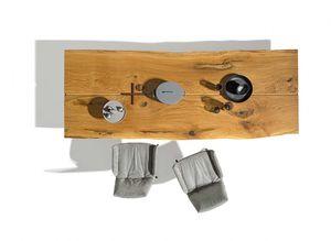 Tavolo in legno massello di rovere spazzolato con sedie lui plus
