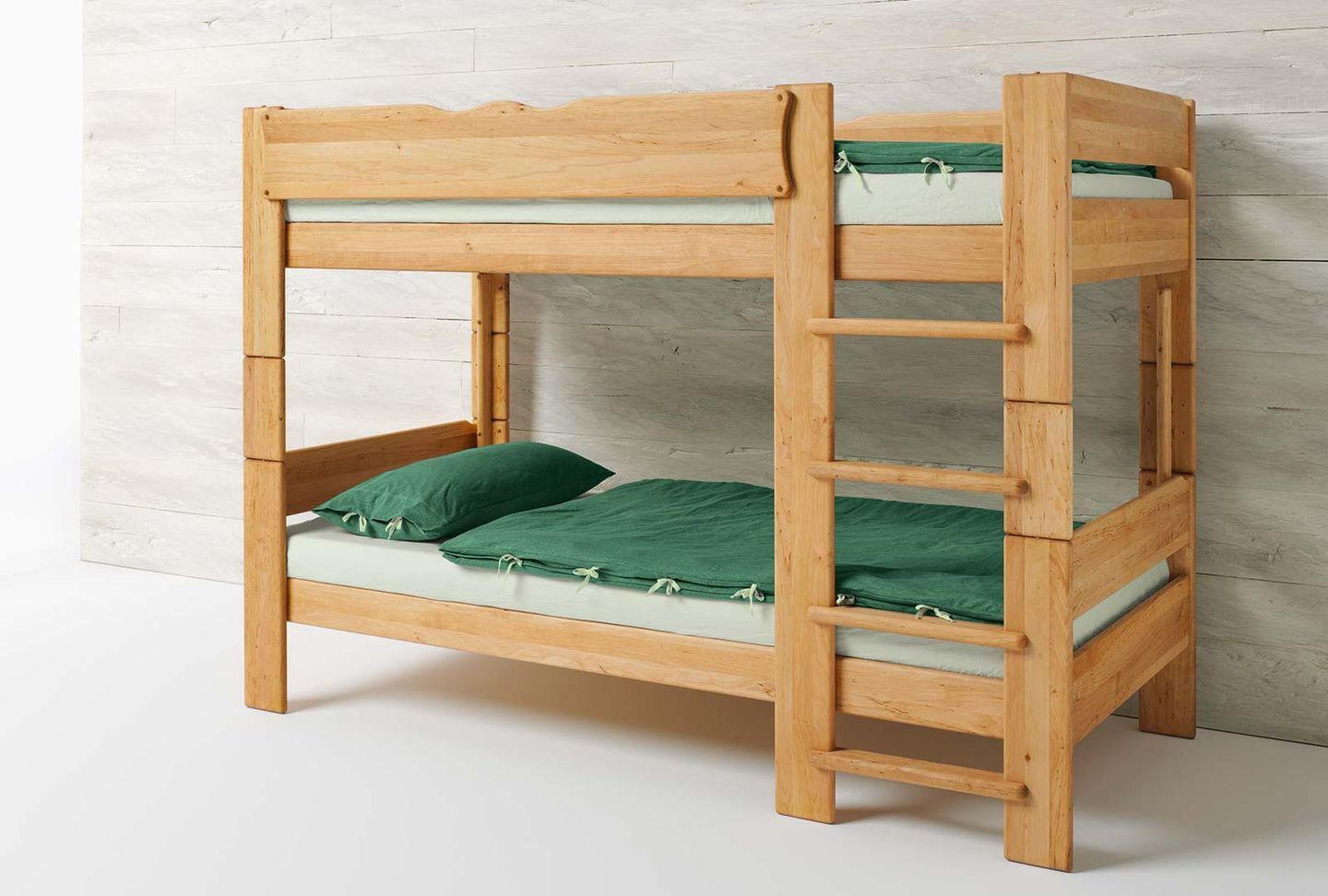 mobile child's bed in the colour world green