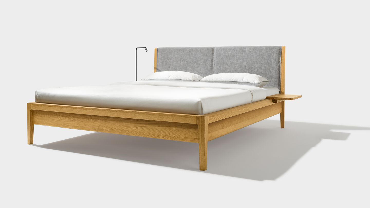 mylon bed with consoles and lamp by TEAM 7