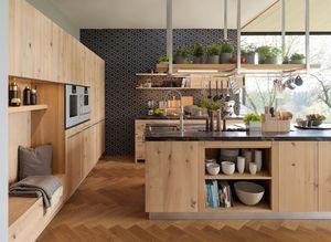 Cucina loft in rovere selvatico naturale