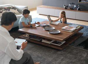 Tavolino c3 in legno massello di noce