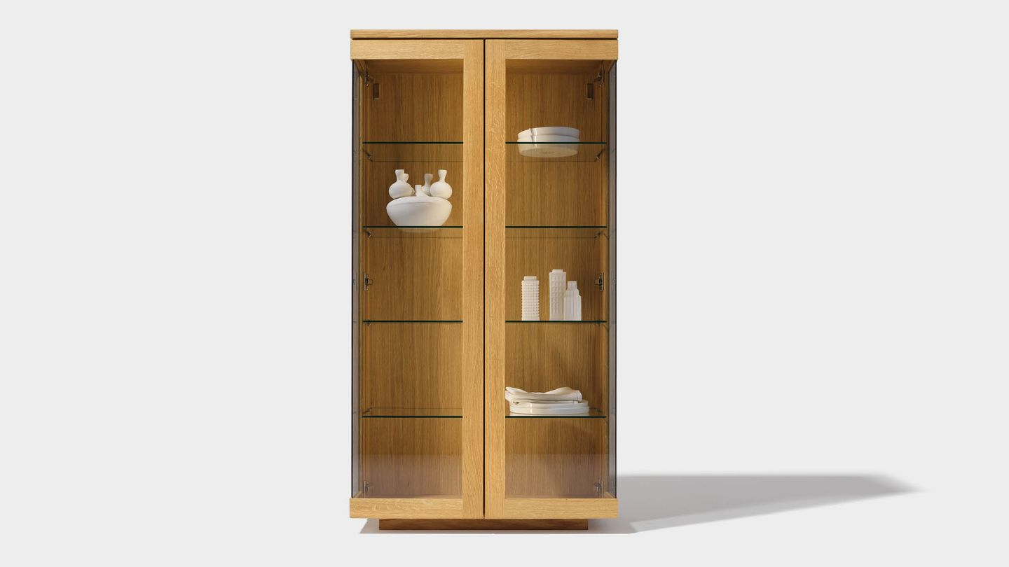 cubus display cabinet of solid wood