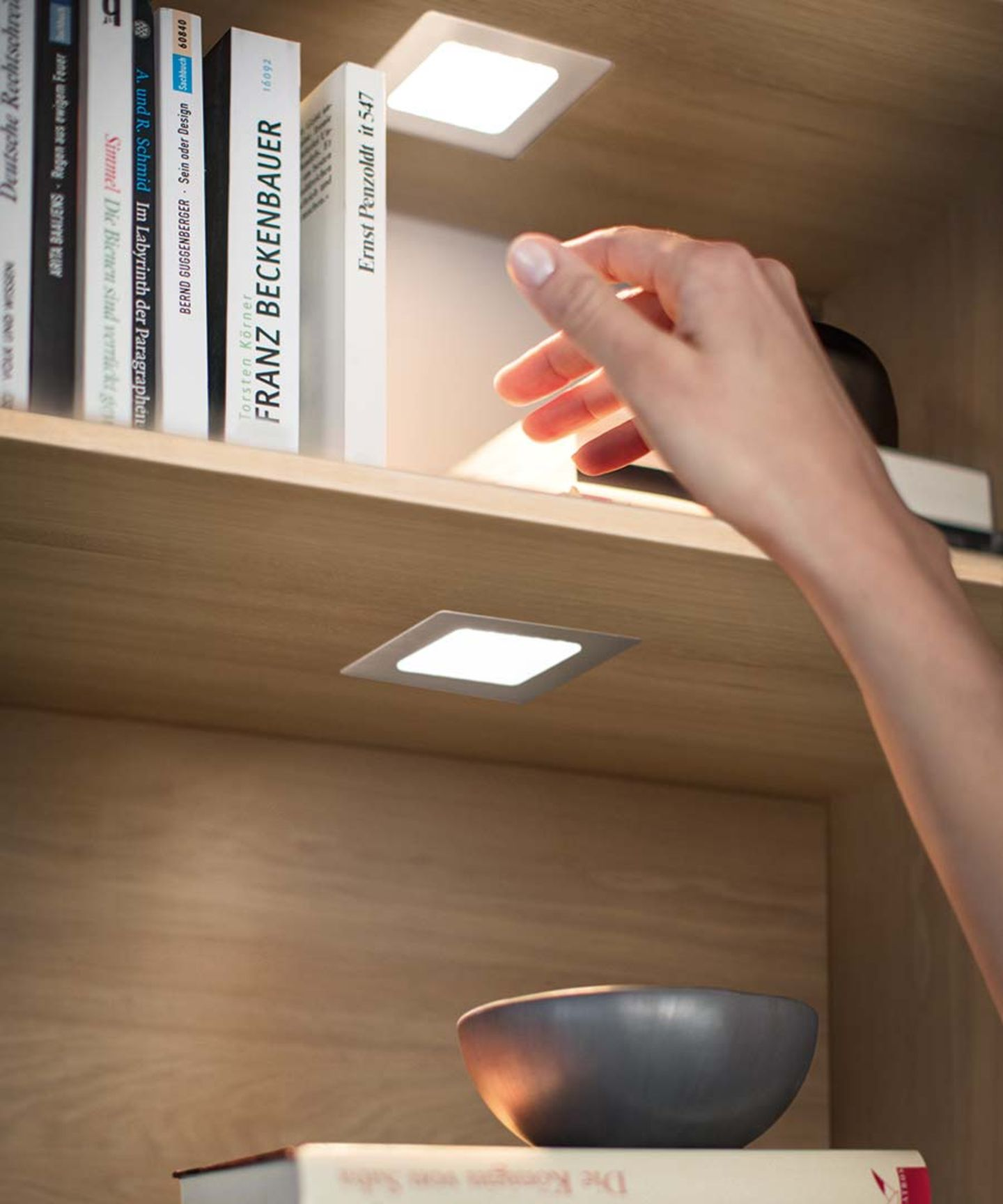 Cloison d'habitation cubus pure avec éclairage