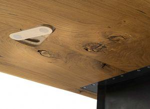 raccords en bois sur la partie inférieure de la table echt.zeit