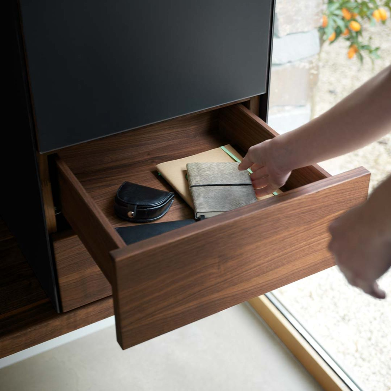 Meuble de vestibule cubus pure en bois massif avec tiroir