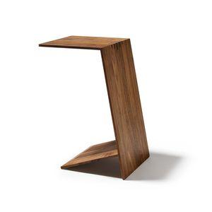 Tavolino di servizio sidekick in legno massello per divano