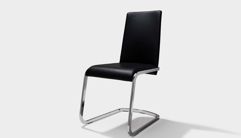 TEAM 7 f1 chaise cantilever en noir