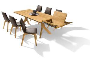 Table extensible yps en bois avec chaises lui