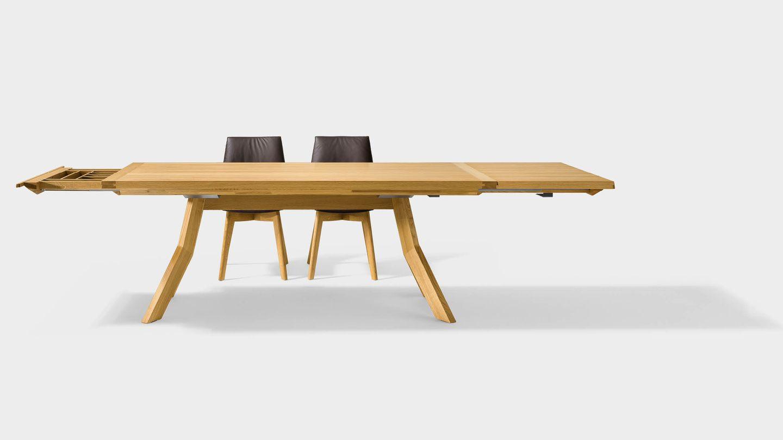 Tavolo allungabile yps in puro legno naturale