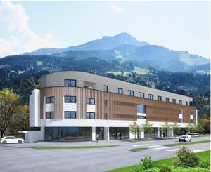 Außenansicht des TEAM 7 Flagshipstores in St. Johann in Tirol.