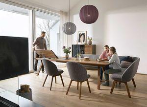 taso Auszugstisch mit flor Bank und Stühlen von TEAM 7