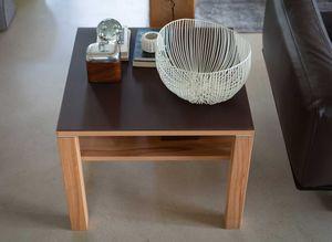 Tavolino basso cubus in legno naturale