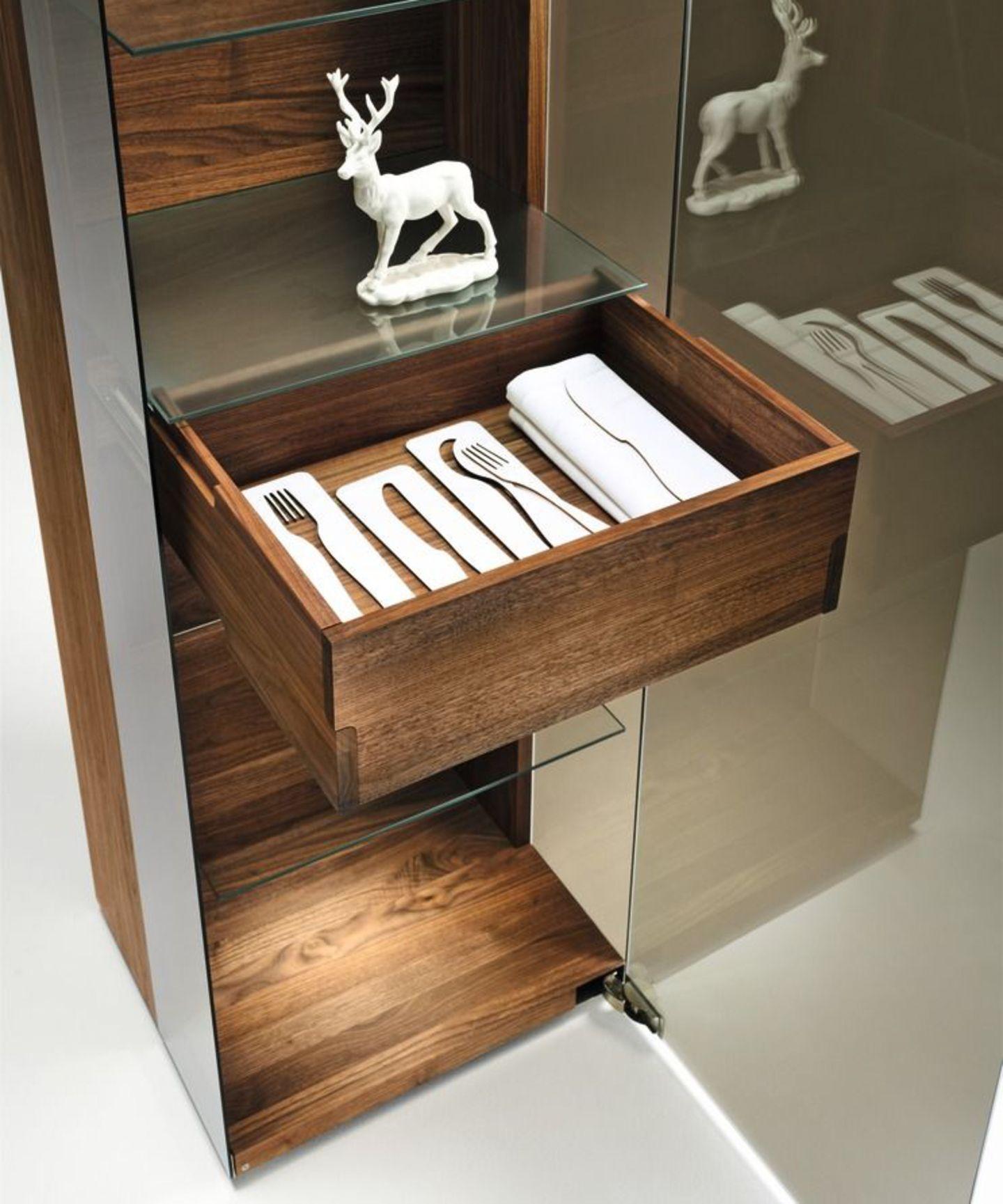 nox cabinet detail drawer in walnut