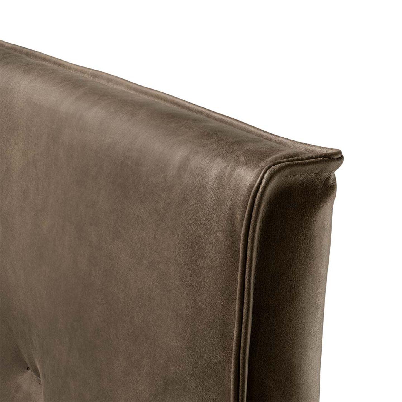 Lit float avec tête de lit en cuir ornée d'une bordure continue
