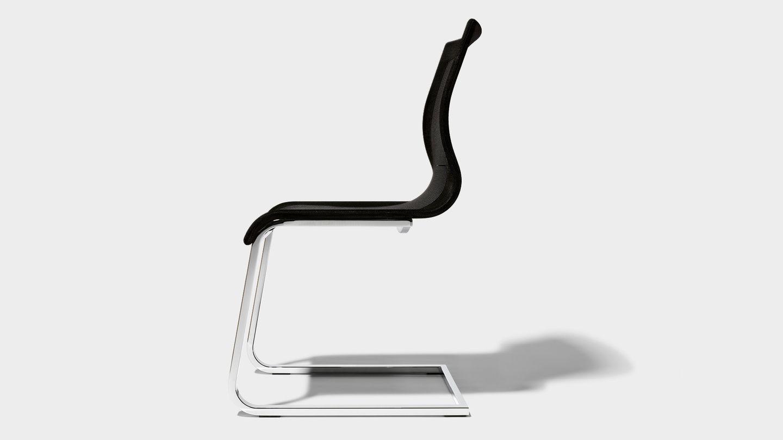 Esszimmer Stuhl magnum Stricktex mit Gestell glänzend