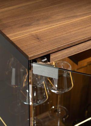 hidden hinges TEAM 7 filigno glass cabinet
