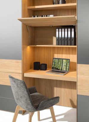 Промежуточный элемент в белёном дубе для шкафа valore от TEAM 7 с функцией домашнего офиса