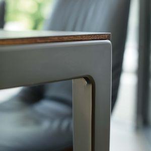 Auszugstisch tak mit Fußgestell bronze matt