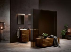 Bathroom lignatur in walnut