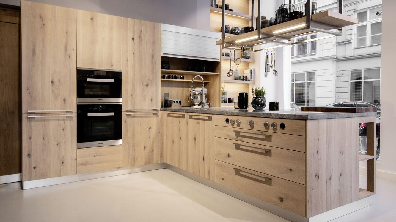 loft Küche in Eiche weiss im Küchen Store in Wien