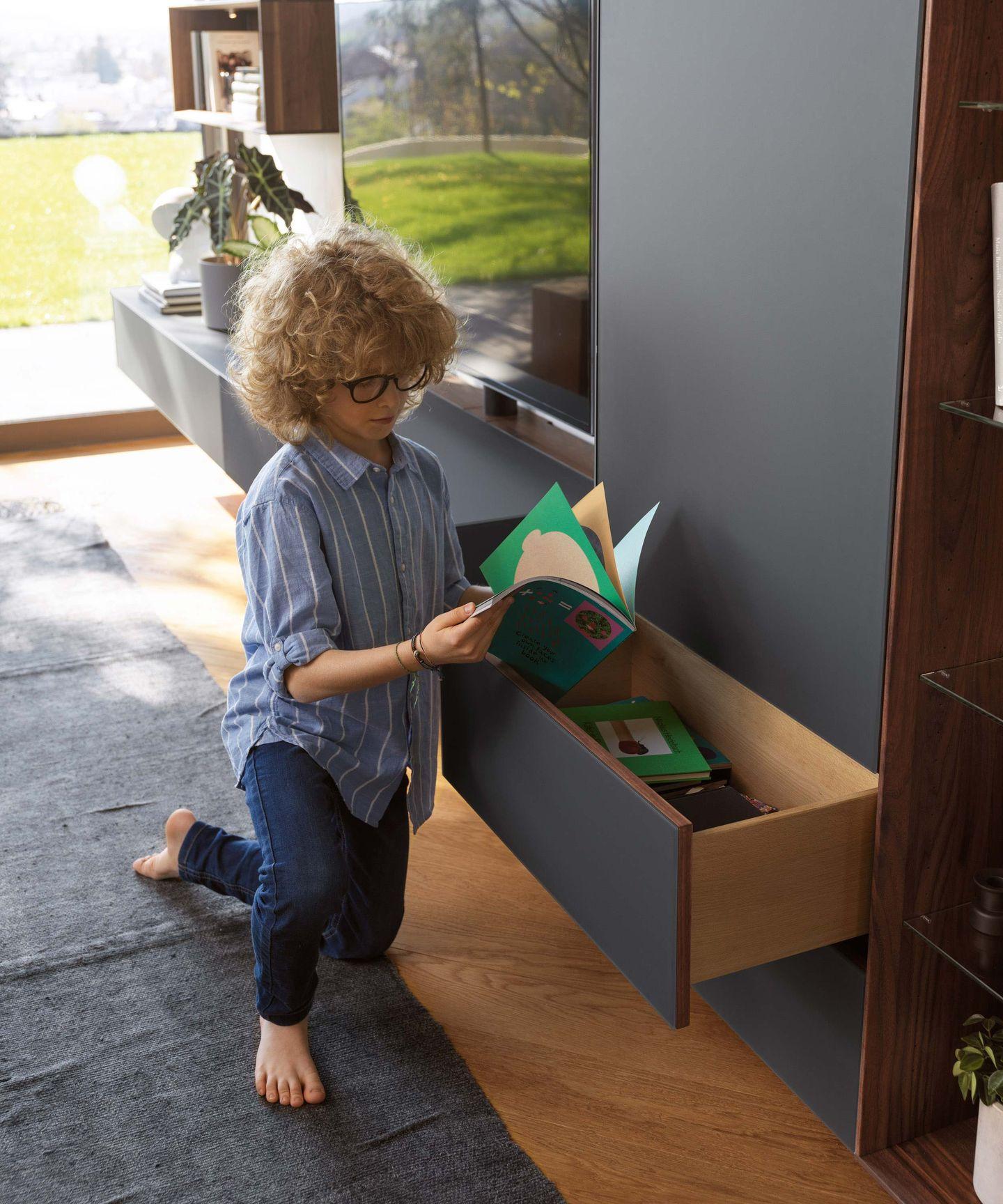 cloison d'habitation cubus pure avec tiroir