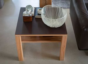 Table de salon cubus en bois naturel