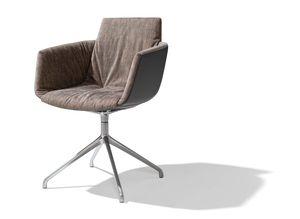 chaise grand lui en tissu maple avec piétement pivotant
