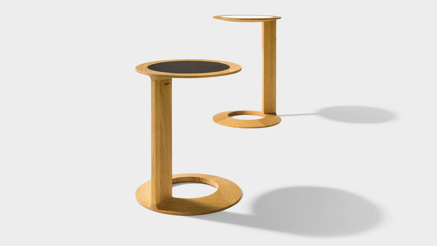 TEAM 7 loup side table by designer Kai Stania