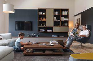 Wohnzimmer Wohnwand cubus mit c3 Couchtisch