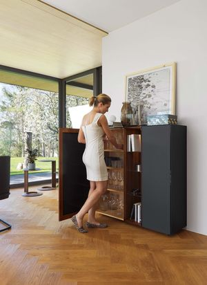 cubus pure highboard in walnut