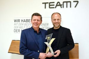 Georg Emprechtinger and Hermann Pretzl with the Corona award in Gold