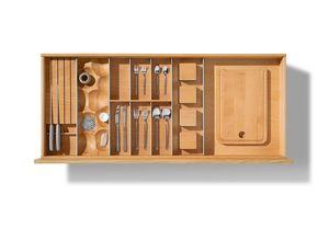 Внутреннее наполнение кухонных ящиков с индивидуальной планировкой