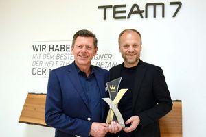 Georg Emprechtinger e Hermann Pretzl con il riconoscimento Corona d'oro