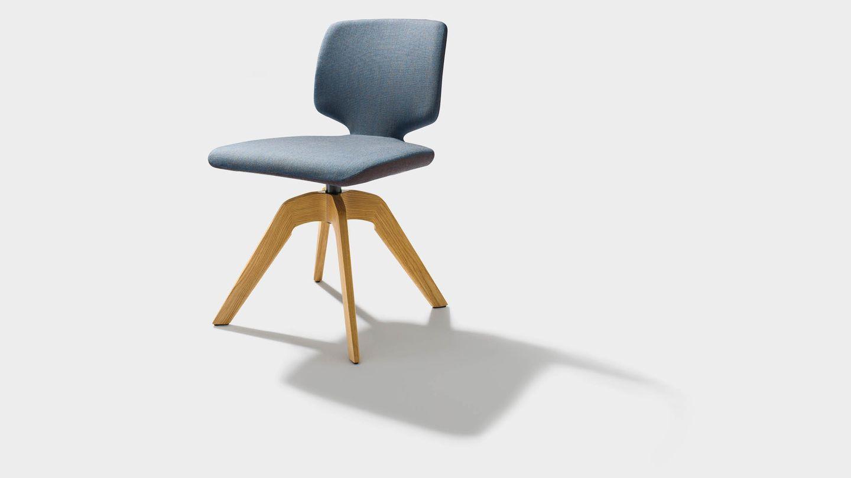 """Вращающееся кресло """"aye"""" из текстиля и на четырёх ножках, без подлокотников"""