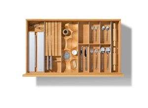 séparation de tiroirs pour la cuisine en hêtre