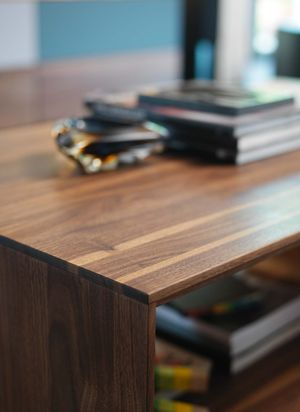 lux coffee table made of solid wood