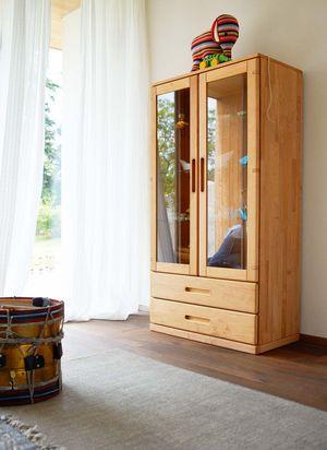 Vetrina per cameretta mobile in legno naturale