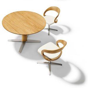 Table de salle à manger ronde girado en chêne