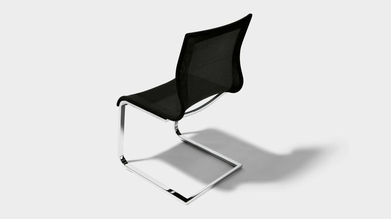 Stuhl Freischwinger magnum Stricktex in schwarz