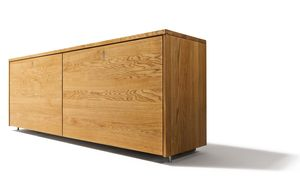 Sideboard cubus aus Naturholz in Eiche