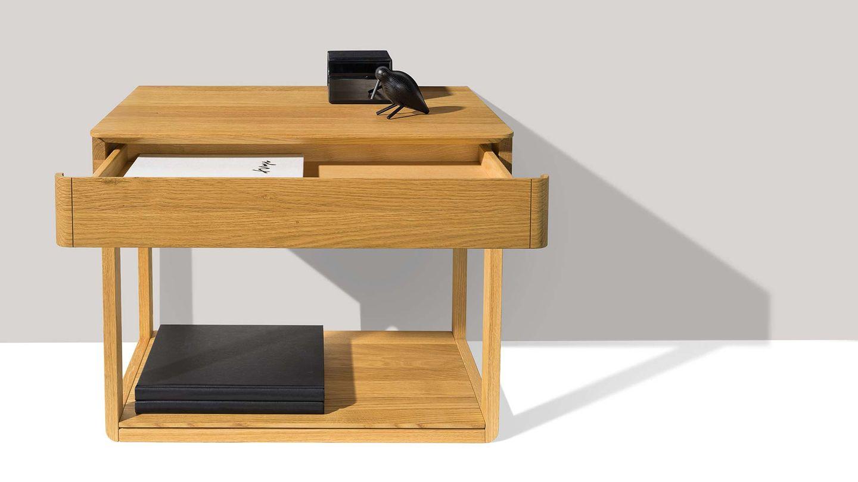 table de chevet float autonome avec surface de rangement supplémentaire