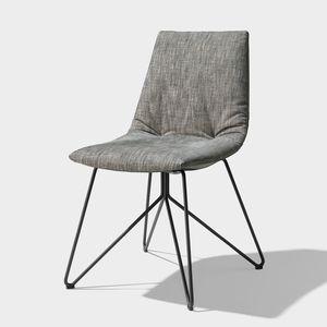 TEAM 7 lui chaise, tissu maple pietement en fil d'acier finiton